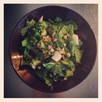 Spinazie peer salade