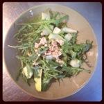 Avocado appel tuinbonen salade