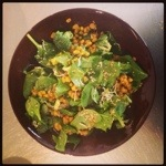 mungbonensalade met spinazie