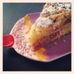 Frambozen taart cake kruimel