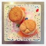 Dille scones met gerookte zalm