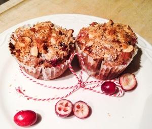 muffin, gezond, kokos, spelt, cranberry, amandel