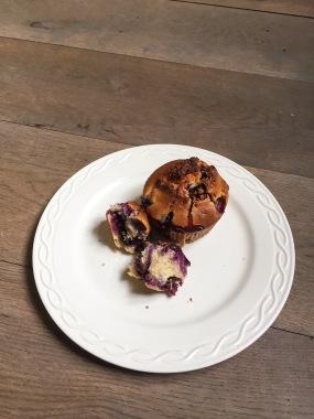 blauwe bessen muffin zonder suiker zacht