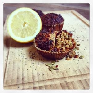 havermout muffins citroen maanzaad zonder suiker