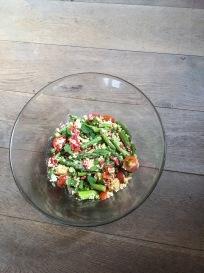 bulgursalade groene groenten